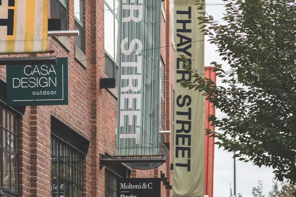 Thayer Street store fronts